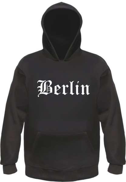 Berlin Kapuzensweatshirt - Altdeutsch - bedruckt - Hoodie Kapuzenpullover