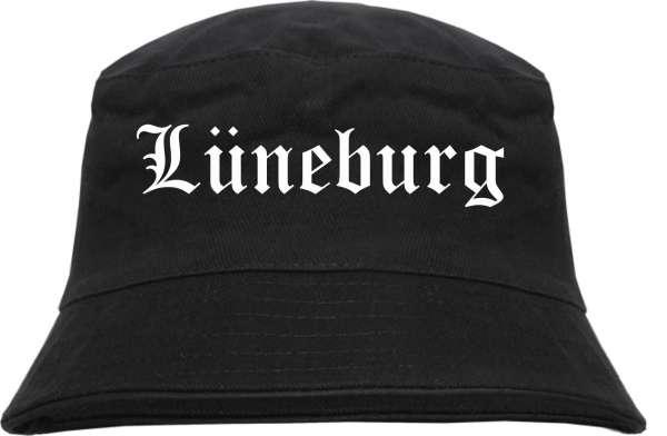 Lüneburg Fischerhut - Altdeutsch - bedruckt - Bucket Hat Anglerhut Hut