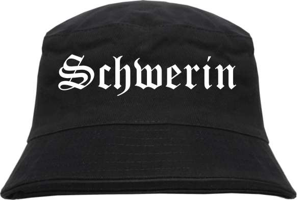 Schwerin Fischerhut - Altdeutsch - bedruckt - Bucket Hat Anglerhut Hut