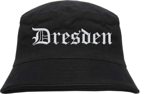 Dresden Fischerhut - Altdeutsch - bestickt - Bucket Hat Anglerhut Hut