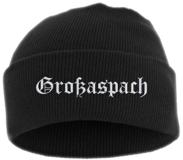 Großaspach Umschlagmütze - Altdeutsch - Bestickt - Mütze mit breitem Umschlag