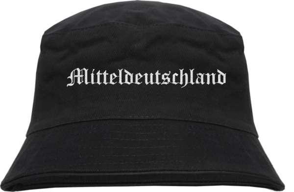 mitteldeutschland Fischerhut - Altdeutsch - bestickt - Bucket Hat Anglerhut Hut