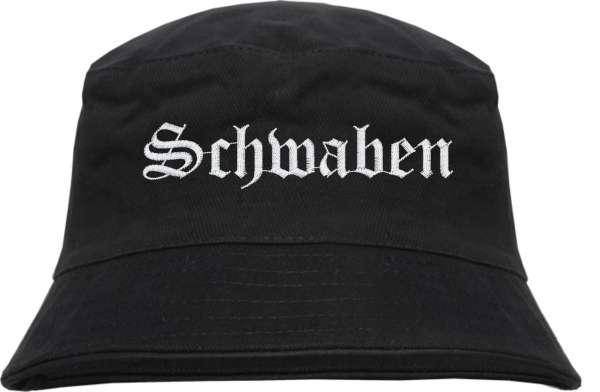 Schwaben Fischerhut - Altdeutsch - bestickt - Bucket Hat Anglerhut Hut