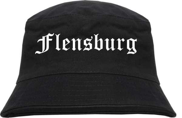 Flensburg Fischerhut - Altdeutsch - bedruckt - Bucket Hat Anglerhut Hut