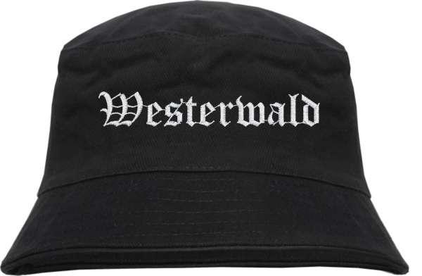 Westerwald Fischerhut - Altdeutsch - bestickt - Bucket Hat Anglerhut Hut