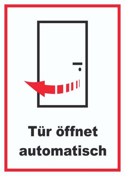 Tür öffnet automatisch Schild