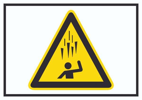 Achtung Eiszapfen Symbol Schild
