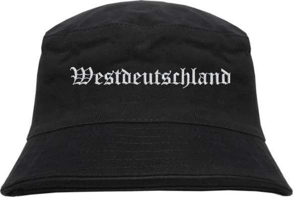 Westdeutschland Fischerhut - Altdeutsch - bestickt - Bucket Hat Anglerhut Hut