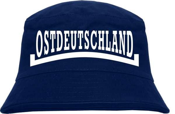 Ostdeutschland Linie Fischerhut - Dunkelblau - bedruckt - Bucket Hat Anglerhut Hut