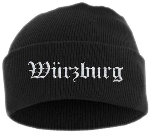 Würzburg Umschlagmütze - Altdeutsch - Bestickt - Mütze mit breitem Umschlag