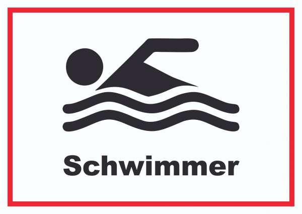 Schwimmer Schild