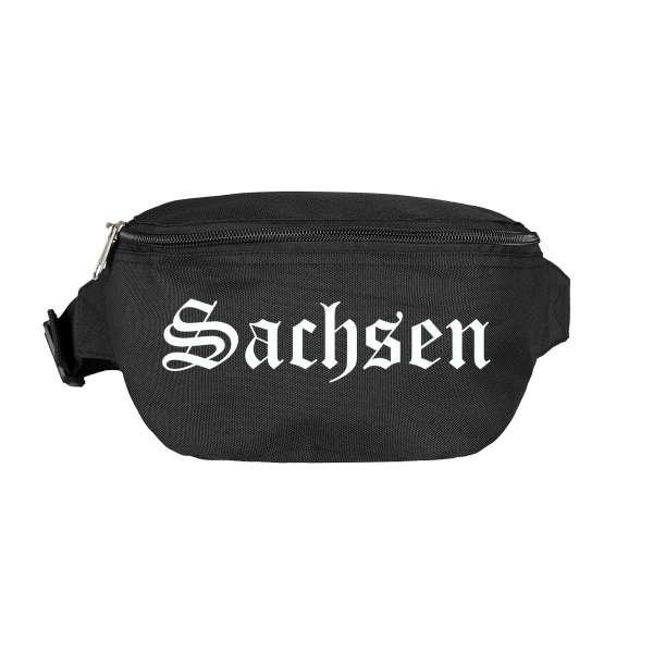 Sachsen Bauchtasche - Altdeutsch bedruckt - Gürteltasche Hipbag