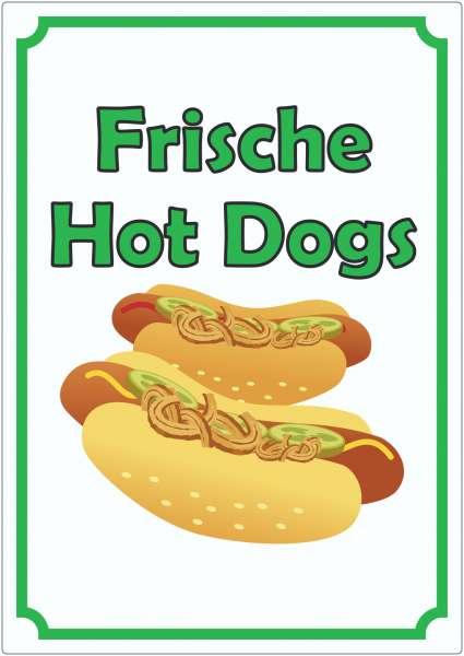 Frische Hot Dogs Aufkleber Hochkant