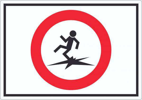 Betreten der Eisfläche verboten Lebensgefahr Symbol Aufkleber