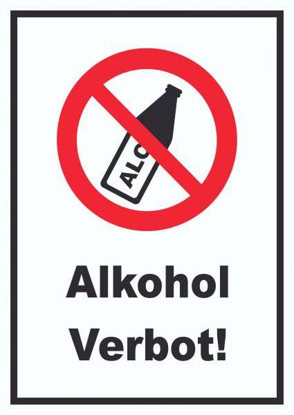 Alkohol verbot Schild