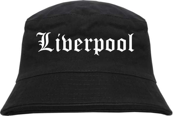Liverpool Fischerhut - Altdeutsch - bedruckt - Bucket Hat Anglerhut Hut