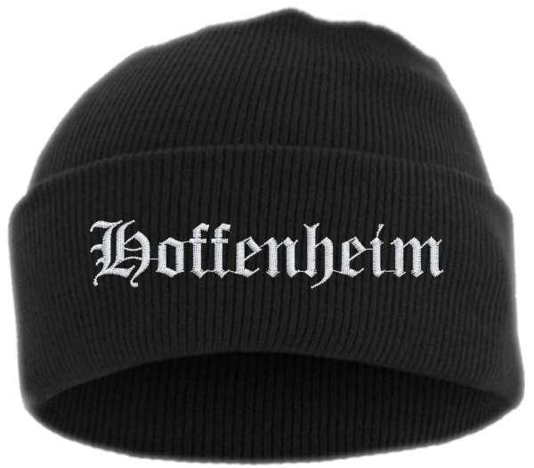Hoffenheim Umschlagmütze - Altdeutsch - Bestickt - Mütze mit breitem Umschlag