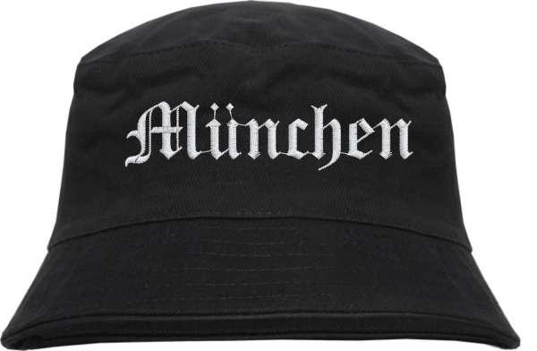 München Fischerhut - Altdeutsch - bestickt - Bucket Hat Anglerhut Hut