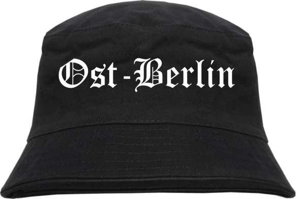 Ost-Berlin Fischerhut - Altdeutsch - bedruckt - Bucket Hat Anglerhut Hut