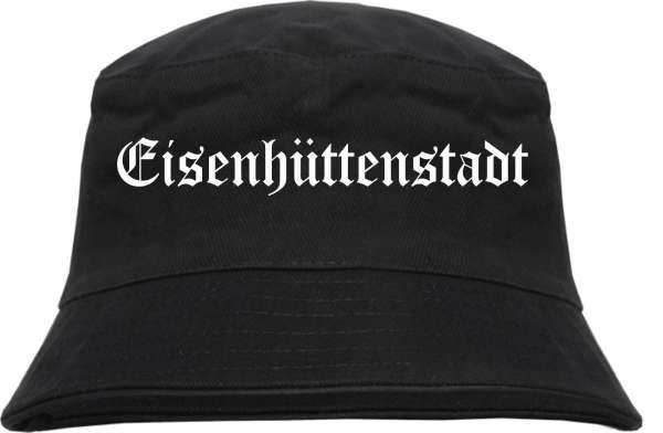 Eisenhüttenstadt Fischerhut - Altdeutsch - bedruckt - Bucket Hat Anglerhut Hut