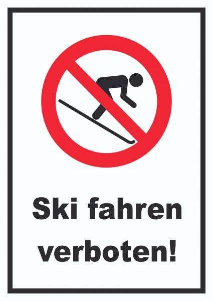 Ski fahren verboten! Schild