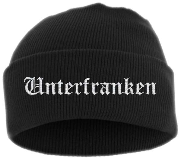 Unterfranken Umschlagmütze - Altdeutsch - Bestickt - Mütze mit breitem Umschlag