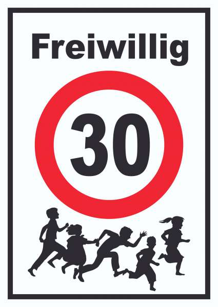 Freiwillig 30 Schild Spielende Kinder | HB-Druck Schilder ...