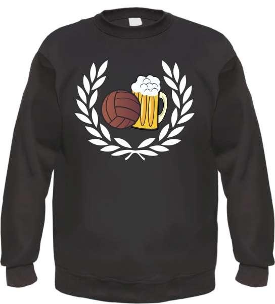 Lorbeerkranz Fussball Bier Sweatshirt - bedruckt - Pullover