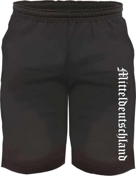 Mitteldeutschland Sweatshorts - Altdeutsch bedruckt - Kurze Hose Shorts