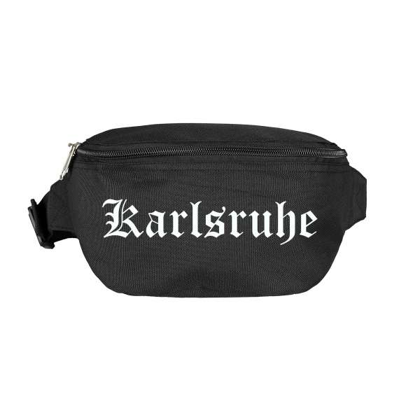 Karlsruhe Bauchtasche - Altdeutsch bedruckt - Gürteltasche Hipbag