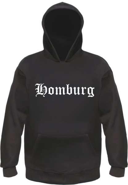Homburg Kapuzensweatshirt - Altdeutsch bedruckt - Hoodie Kapuzenpullover