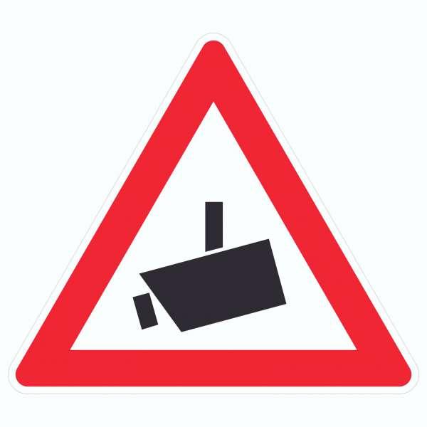 Achtung Videoüberwachung Kameraüberwachung Symbol Aufkleber Dreieck