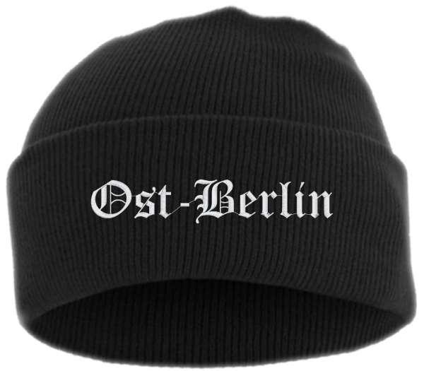 Ost-Berlin Umschlagmütze - Altdeutsch - Bestickt - Mütze mit breitem Umschlag