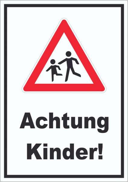 Achtung Kinder Aufkleber