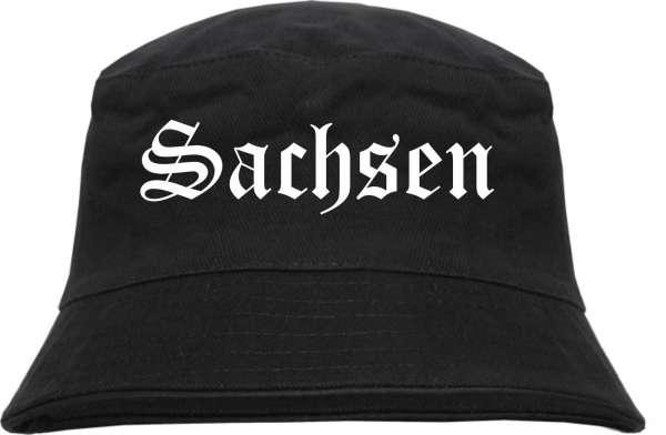 Sachsen Fischerhut - Altdeutsch - bedruckt - Bucket Hat Anglerhut Hut