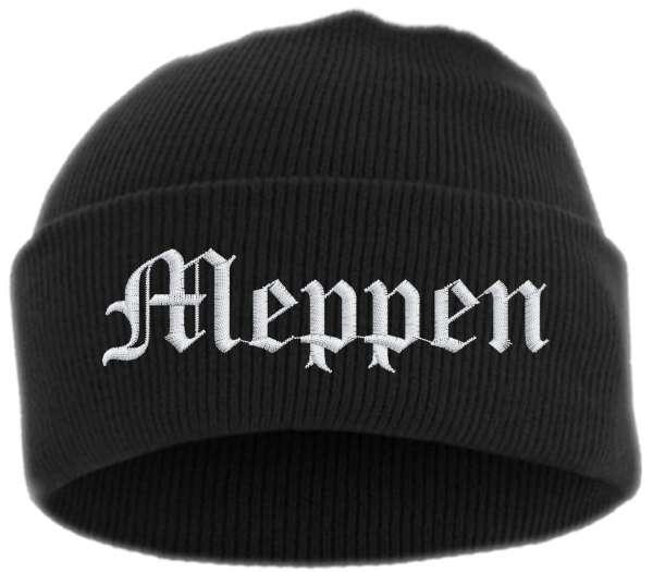 Meppen Umschlagmütze - Altdeutsch - Bestickt - Mütze mit breitem Umschlag