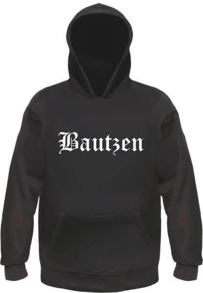 Bautzen Kapuzensweatshirt - Altdeutsch bedruckt - Hoodie Kapuzenpullover