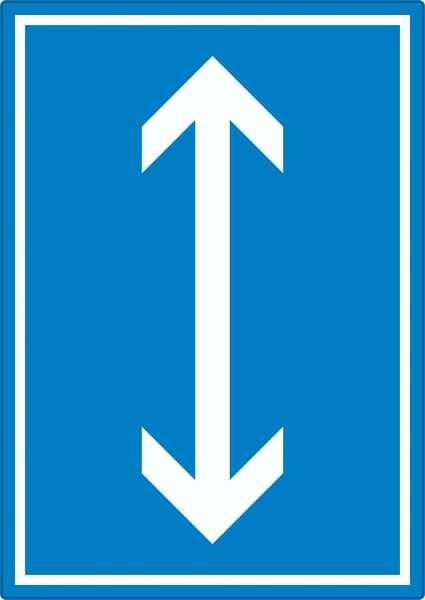 Richtungspfeil hoch runter Aufkleber hochkant weiss blau Pfeil