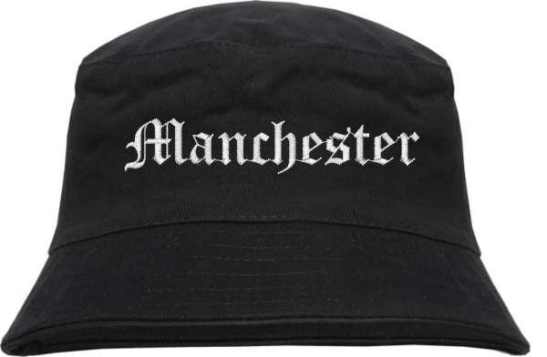 Manchester Fischerhut - Altdeutsch - bestickt - Bucket Hat Anglerhut Hut