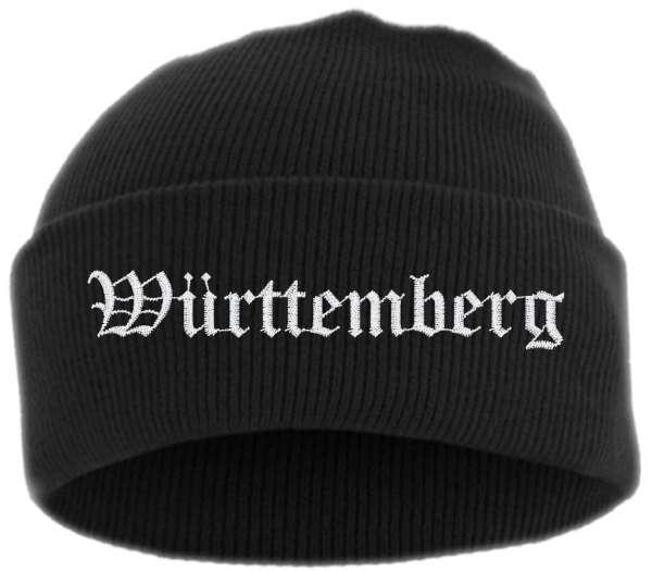 Württemberg Umschlagmütze - Altdeutsch - Bestickt - Mütze mit breitem Umschlag