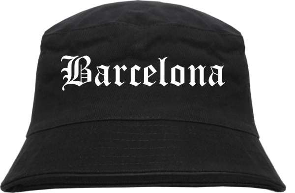 Barcelona Fischerhut - Altdeutsch - bedruckt - Bucket Hat Anglerhut Hut