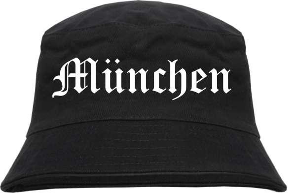 München Fischerhut - Altdeutsch - bedruckt - Bucket Hat Anglerhut Hut