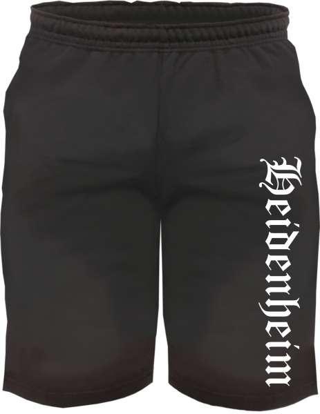 Heidenheim Sweatshorts - Altdeutsch bedruckt - Kurze Hose Shorts