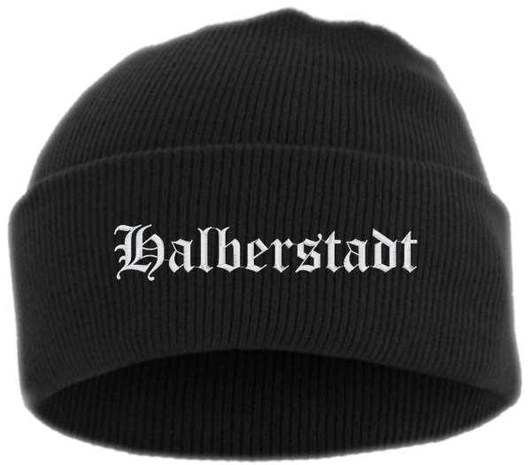 Halberstadt Umschlagmütze - Altdeutsch - Bestickt - Mütze mit breitem Umschlag