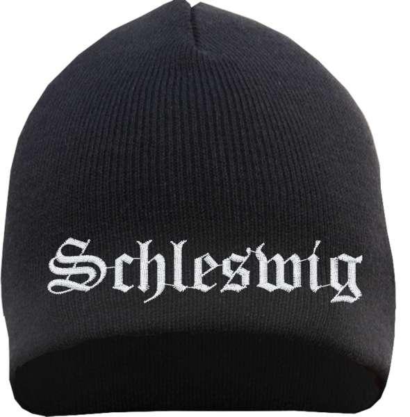 Schleswig Beanie Mütze - Altdeutsch - Bestickt - Strickmütze Wintermütze