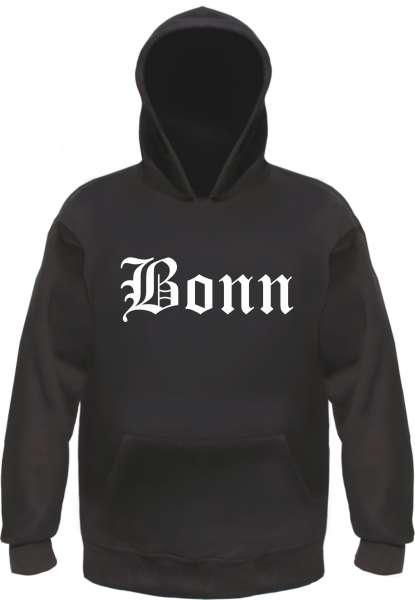 Bonn Kapuzensweatshirt - Altdeutsch bedruckt - Hoodie Kapuzenpullover
