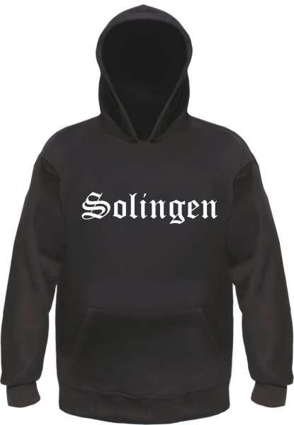 Solingen Kapuzensweatshirt - Altdeutsch bedruckt - Hoodie Kapuzenpullover