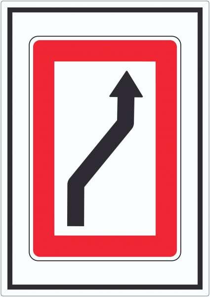 Wechsel auf die Fahrwasserseite Steuerbordseite Symbol Aufkleber