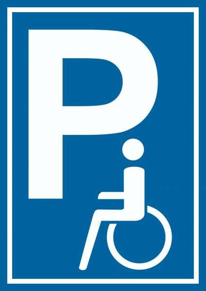 Behinderten Parkplatz Schild