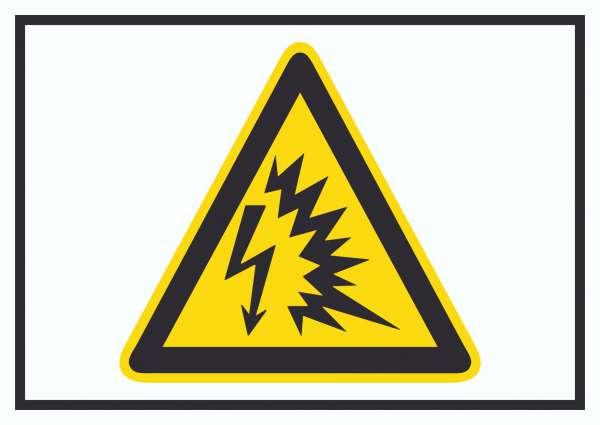Achtung Lichtbogen Symbol Schild